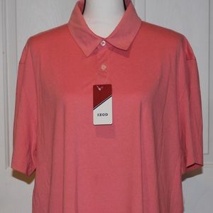 Men's IZOD SS Polo Shirt Peach/Pink/Rose